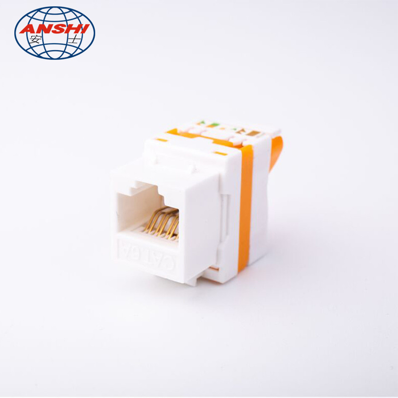ABS RJ45 Keystone Jack AS-KEY-D9E Phosphor Bronze Needle Customize Color