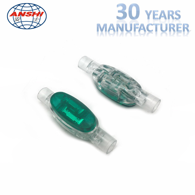 "Female Gender 4 Wire Connectors Green Color Moisture Proof 0.091"" Maximum Insulation"
